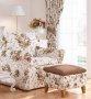 Fotel w stylu prowansalskim duże brązowe róże Marie