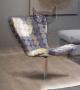 Fotel w tkaninie w koła- Butterflay