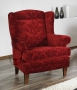 Rewelacyjny stylizowany z wysokim oparciem Babciny fotel