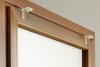 Montaż bezinwazyjny na ramę okna dla rolet rzymskich woalowych