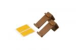 Tworzywowy wieszak do mini rolet - jasny brąz