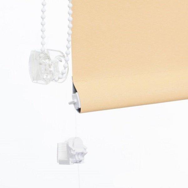 Mini roleta z żyłką Thermo - Żółty Beż (Silver)