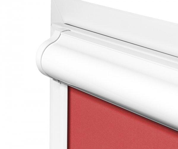 Rolety w kasecie PLUS montujemy na ramie okna, nie zasłaniając powierzchni szyby