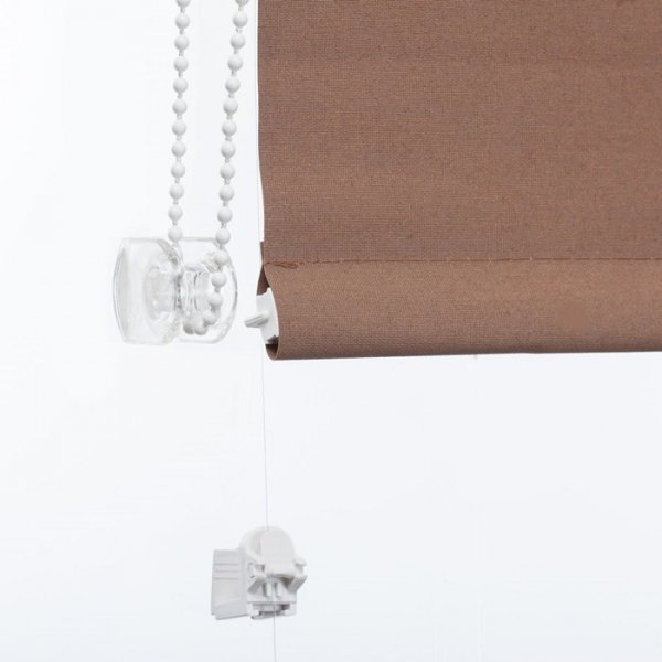 Mini roleta z żyłką - Brąz (Carina)