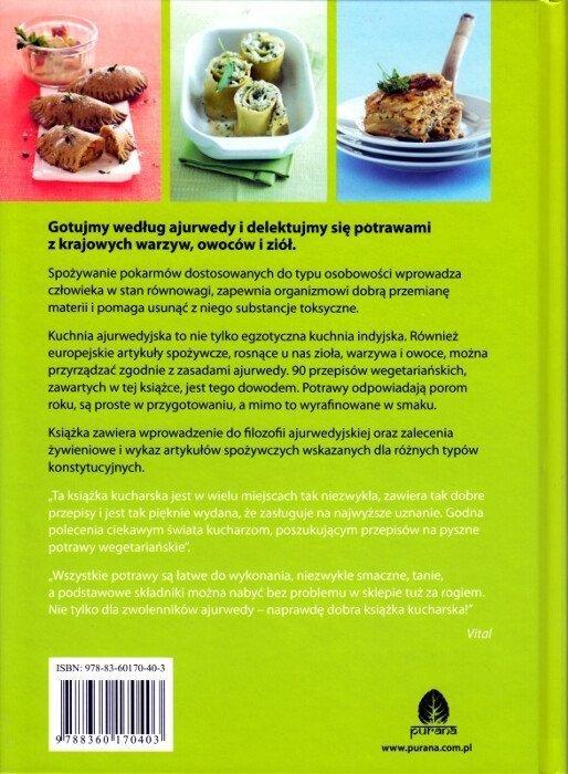 Kuchnia Ajurwedyjska Według Czterech Pór Roku Książka
