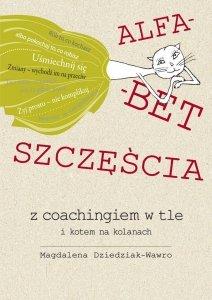 Alfabet szczęścia z coachingiem w tle i kotem na kolanach
