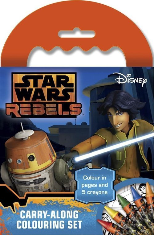 Mini blok kolorowanek z kredkami. Star Wars Rebels