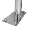 WC - Klappgriff freistehend für barrierefreies Bad aus rostfreiem Edelstahl 75 cm ⌀ 32 mm / ⌀ 50 mm