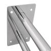 Stützgriff für barrierefreies Bad 80 cm aus rostfreiem Edelstahl ⌀ 25 mm