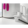 WC Sitz für barrierefreies Wand- oder Stand-WC mit Hygieneöffnung vorne