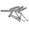 Handlauf für barrierefreies Bad 140 cm aus rostfreiem Edelstahl ⌀ 32 mm mit Abdeckrosetten