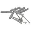 Winkelgriff für barrierefreies Bad 100/60 cm links montierbar aus rostfreiem Edelstahl ⌀ 25 mm