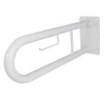 WC Klappgriff für barrierefreies Bad mit Toilettenpapierhalter weiß 50 cm ⌀ 32 m