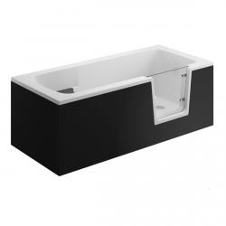 Seitenpaneel für AVO / VOVO Badewanne 140 cm schwarz