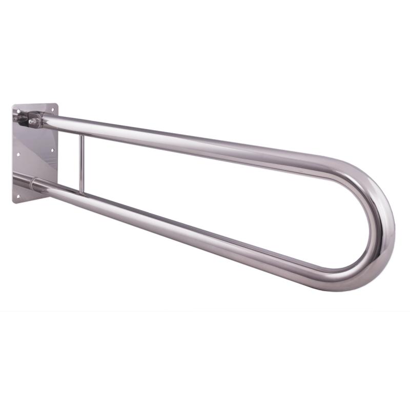 WC - Klappgriff für barrierefreies Bad aus rostfreiem Edelstahl 85 cm ⌀ 32 mm