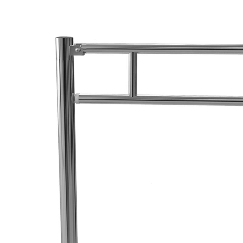 WC - Klappgriff freistehend für barrierefreies Bad aus rostfreiem Edelstahl 85 cm ⌀ 32 mm / ⌀ 50 mmWC - Klappgriff freistehend für barrierefreies Bad aus rostfreiem Edelstahl 85 cm ⌀ 32 mm / ⌀ 50 mm