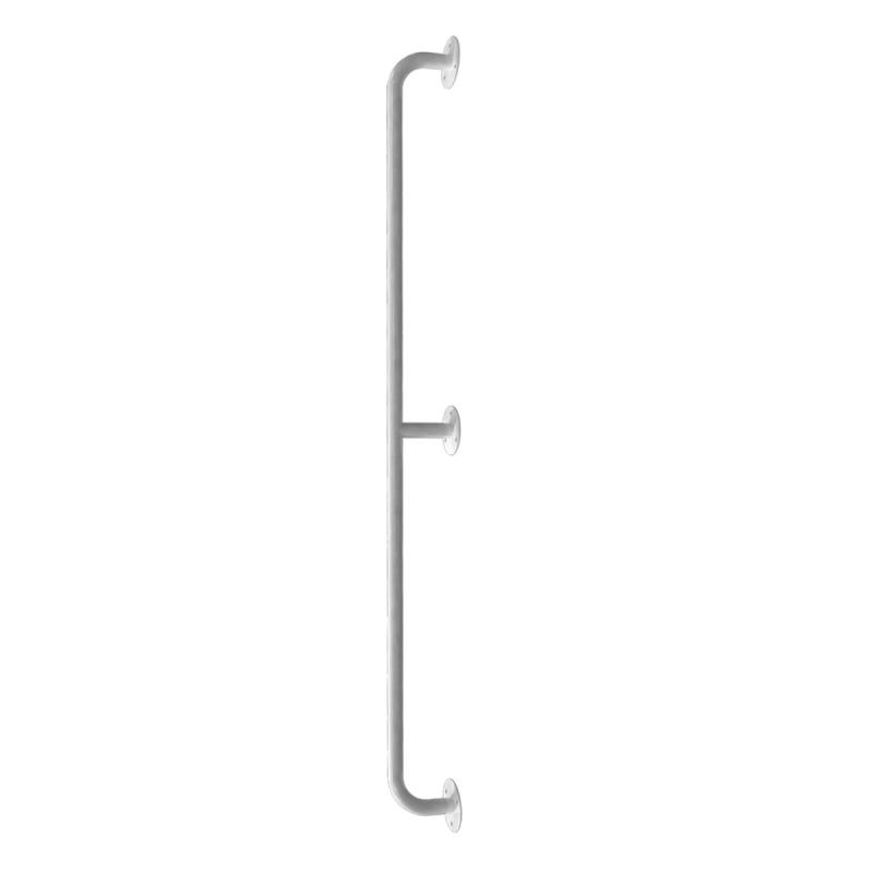 Handlauf für barrierefreies Bad 120 cm weiß ⌀ 25 mm