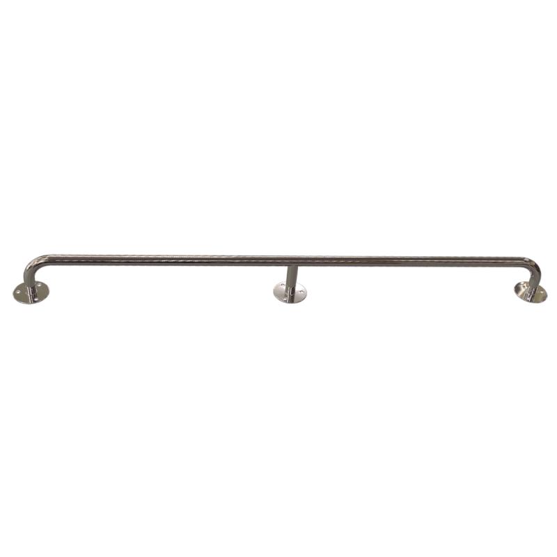 Gerader Handlauf für barrierefreies Bad 170 cm aus rostfreiem Edelstahl ⌀ 25 mm