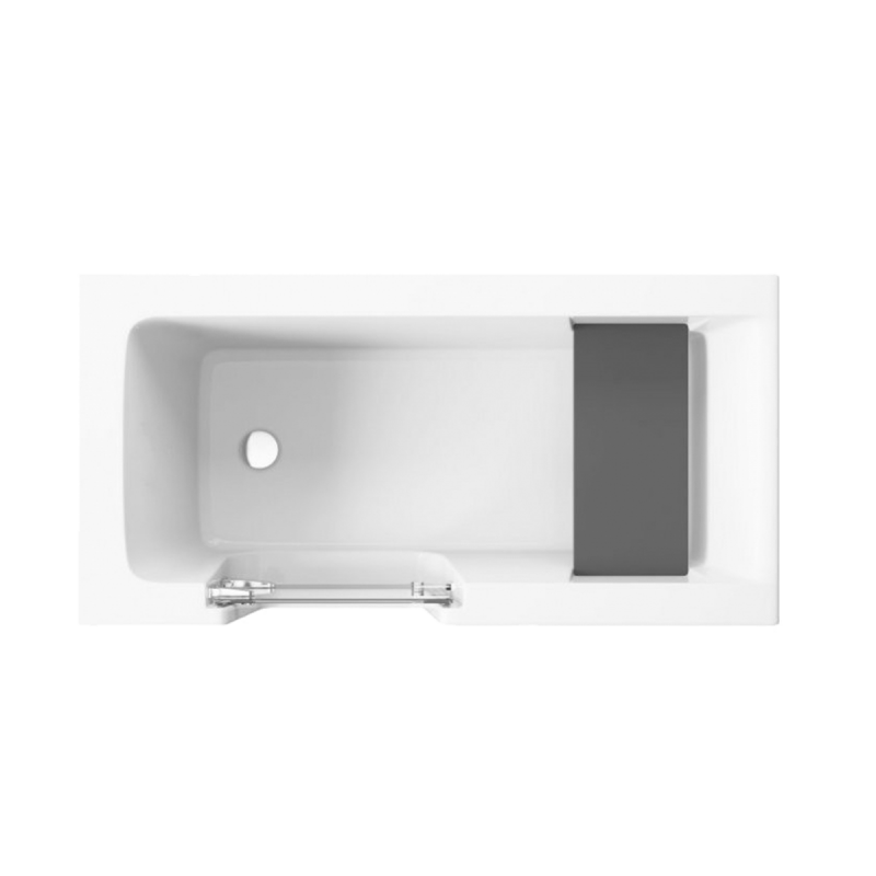 Badewanne für barrierefreies Bad mit Tür links und integrierter abnehmbarer Sitzbank für Senioren VOVO 170 cm