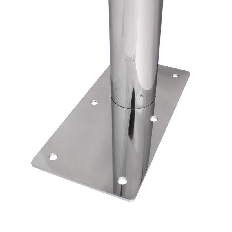 WC - Klappgriff für barrierefreies Bad  60cm mit Toilettenpapierhalter aus rostfreiem Edelstahl ⌀ 32mm