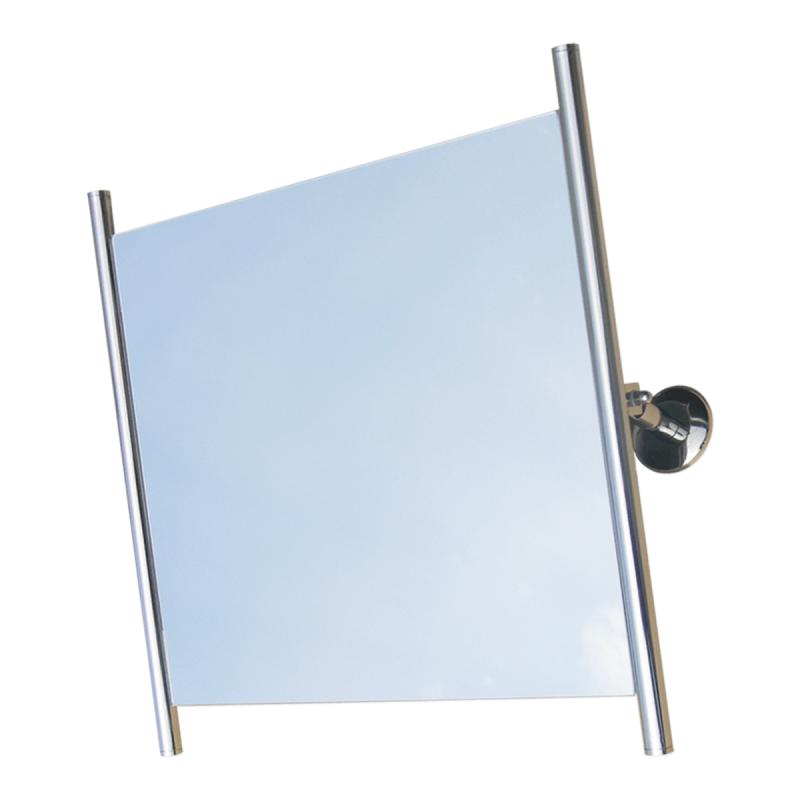 Kippspiegel für barrierefreies Bad mit Seitenrhamen aus Edelstahl 60 x 60 cm