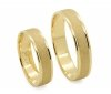Obrączki ślubne złote 585 matowe płaskie 5 mm grawerowane
