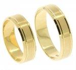 Obrączki ślubne złote 585 płaskie 5,5 mm