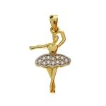 Złota zawieszka baletnica 585 etui gratis