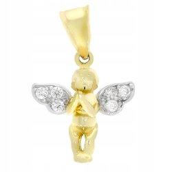 Złota zawieszka 585 aniołek