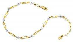 Złota bransoletka 585 z cyrkoniami