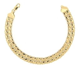 Złota bransoletka 585 dwurzędowa