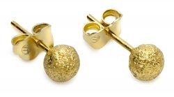 Złote kolczyki matowe kuleczki