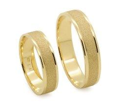 Obrączki ślubne złote 585 matowe płaskie 5 mm