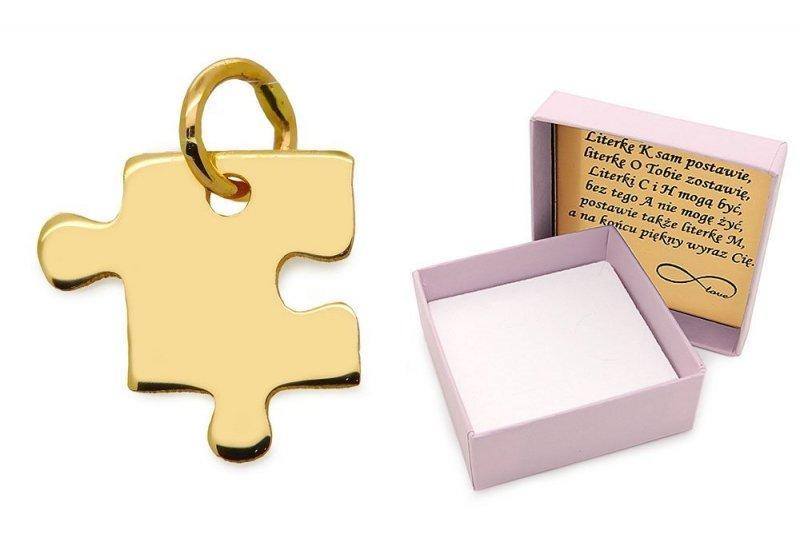 Złota zawieszka 585 puzzel