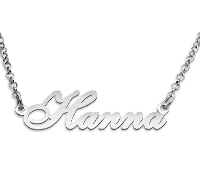 Srebrny napis Hanna - naszyjnik z imieniem , srebro 925