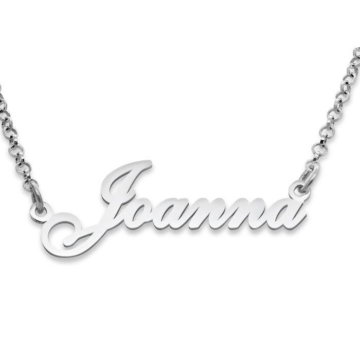 Srebrny napis Joanna - naszyjnik z imieniem , srebro 925