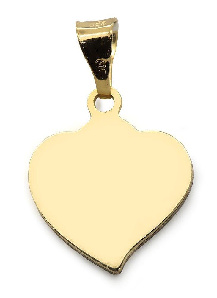 Złota zawieszka 585 serduszko serce  w sercu