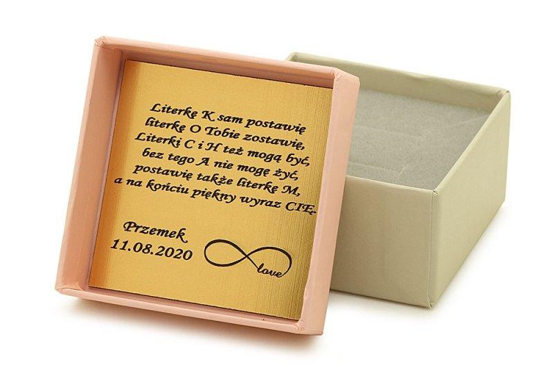 Złoty naszyjnik gwiazd | złota CELEBRYTKA 585 kółeczko z literką