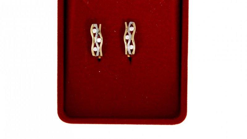 Złote kolczyki z cyrkoniami 585