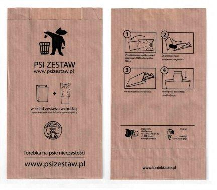 !PROMOCJA Papierowe torebki na Psie odchody ( psiZestaw.pl ) - 1000 szt.