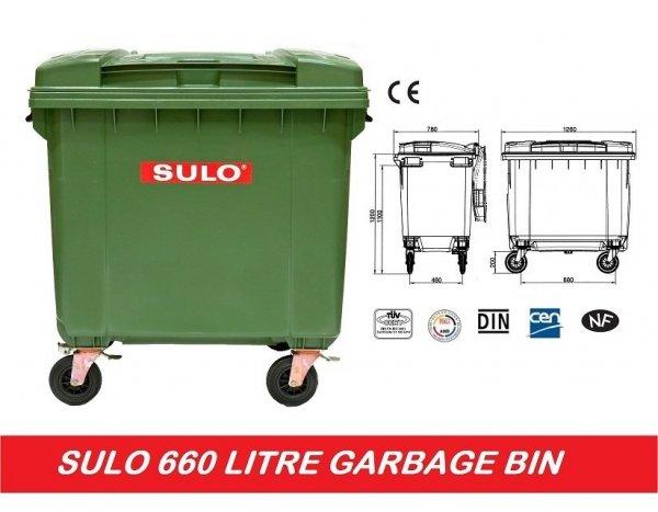 Pojemnik na odpady SULO 1100l Brąz