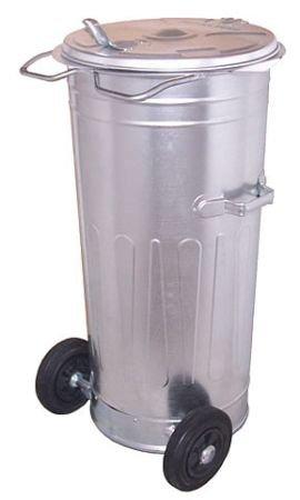 Pojemnik metalowy SM 80 litrów ( na kołach )