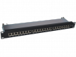 Patch panel STP kat.6A 24 porty LSA 1U