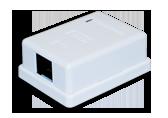 Gniazdo-obudowa natynkowa, FTP 1xRJ45 kat.5e