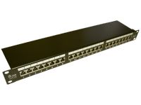 Patch panel STP kat.6 24 porty LSA 1U
