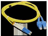 Patch cord LC/UPC-SC/UPC duplex SM 1m