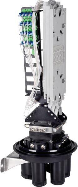 Mufa światłowodowa pionowa do 72 włókien + panel 36xSC KOMPLETNA