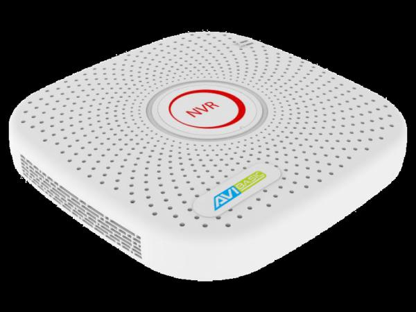 Rejestrator IP 4 kanałowy, z 4 portami PoE, obsługujący 2 dyski - AVIZIO BASIC