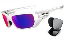 Oakley STYLE SWITCH Polished White/Positive Red Iridium Polarized & Black Iridium OO9194-08