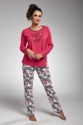 Piżama damska Cornette 145/164 all you need różowy